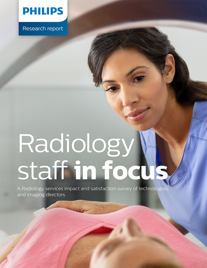 Radiology staff in focus download (.pdf) file